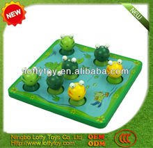 Frog wooden fishing toy