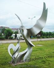 stainless steel outdoor custom statue bird statue eagle statue