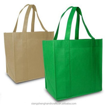 Shopping Bag reinforced sewn handles plastic inserts