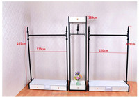 metal hanging clothes display racks, costume display racks, dress up clothes rack