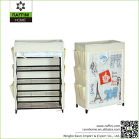 Folding Utility Shoe Rack, Portable Shoe Storage, Non-woven Fabric Shoe Cabinet with Side Pockets