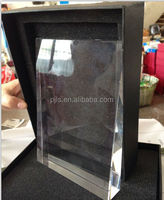 factory direct 3d laser crystal awards blank glass block trophy