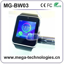 2015 Newest Top factory New Arrival 4.4 Waterproof 3g Smart Watch Phone