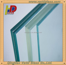 Clear ultra clear Laminated tempered toughened safety Glass for stair,floor,roof skylight