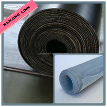 Natural rubber sheets reinforced with stainless steel mesh