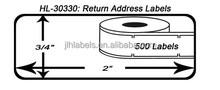 "Dymo Compatible 30330 - 3/4"" x 2"" Multipurpose / Return Address Labels (2 Rolls - 500 Labels Per Roll)"
