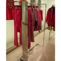 Women clothes stainless steel clothes display shelf\rack stand