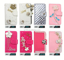 Bling diamond leather Case for Samsung S6 edge, for Samsung S6 edge Mobile Phone accessories