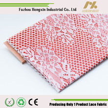 fujian wholesale fashion 100 nylon lace middle flower voile france lace fabric for wedding dress garment underwear high quality