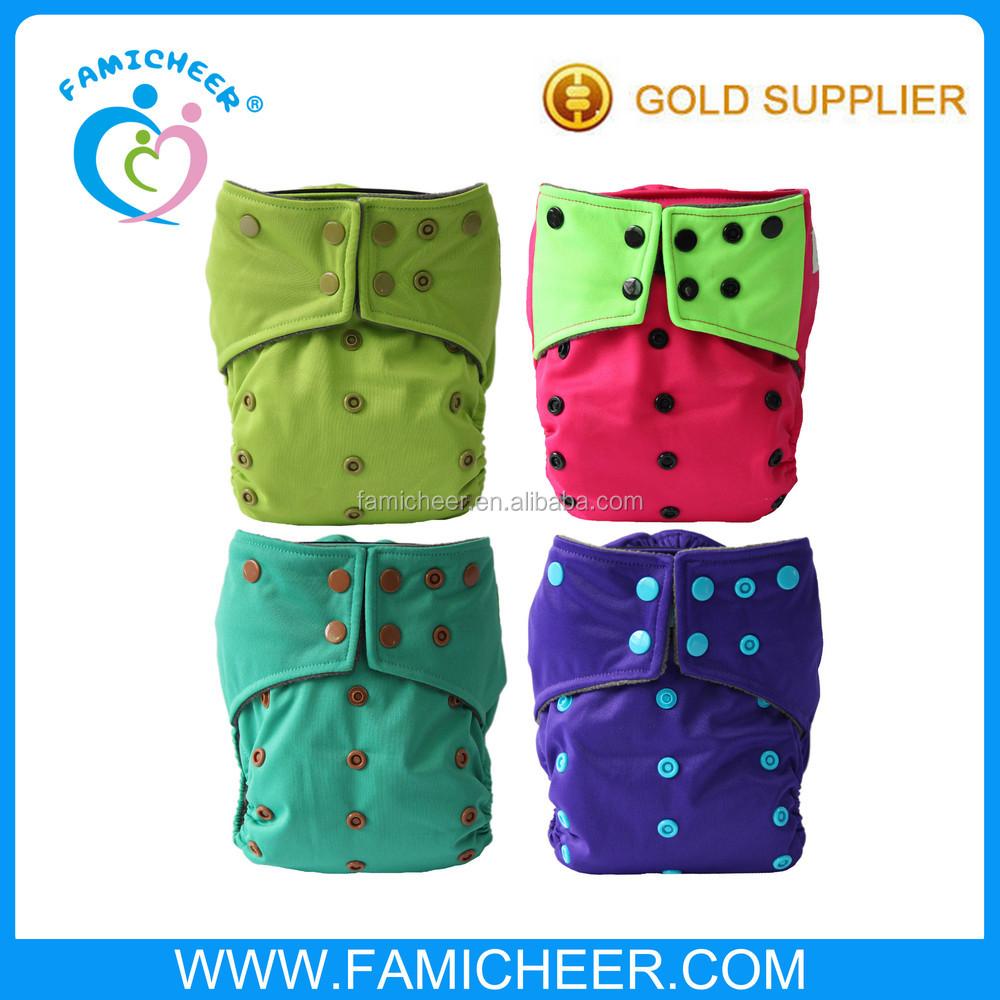2015 Famicheer New Arrival Print AIO Cloth Diaper