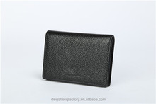 Promotional Gift Pu Leather Credit Card Holder Card Case For Men Factory Customized