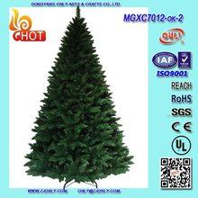 Vendita calda diverse dimensioni& colore albero di natale di plastica