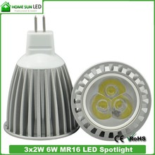 high quality LED lamp MR16 GU5.3 6W 3000K dimmable