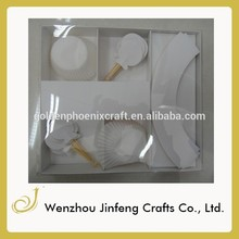 colorido papel de bicarbonato de copos de papel manteiga