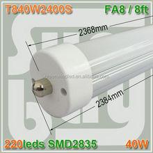 SMD 2835 3014 5630 single input lighting rotating end caps 48 led tube 96 T8
