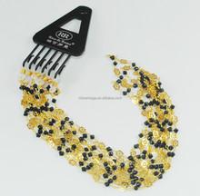 Imitation gemstones + 18K gold-plated metal chain \eyeglass chain