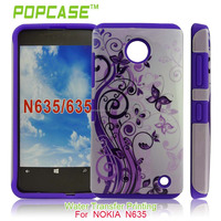 Soft Silicone with Pretty varius printing PC cover for nokia lumia 630 635