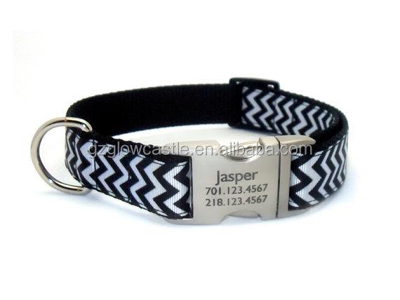 Chevron Stripe Personalized Dog Collar (3).jpg