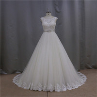 Sultry vogue feather a-line empire mid-calf wedding dress