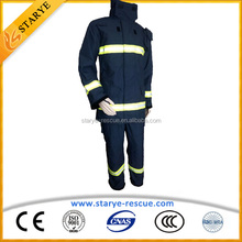 Water Proof Widely Used Flame Retarding Fire Retardant Suit