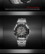 2015 noble promotion gift all stainless steel watch classic men watch