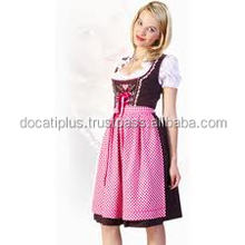 Custom embroidery Midi Dirndl with blouse & apron / Trachten Dirndl Dress / Traditional Bavarian Dirndl