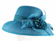 Atacado big Floral moda feminina bowknot decorado palha chapéu de balde