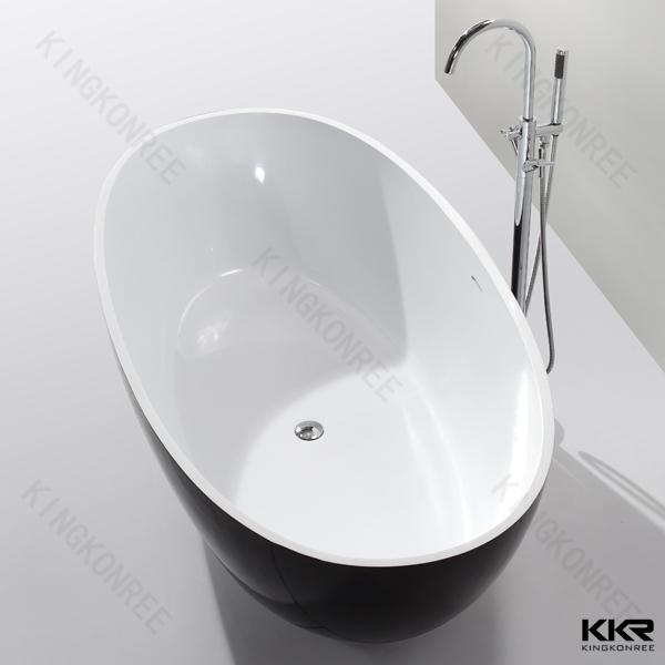 KKR freestanding bathtubs stone resin bathtub size made in china