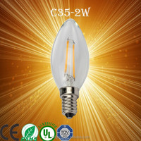 PD Lamp ETL best quality vintage Edison candelabra light filament led candle bulb with 3 watt 2W E12 E14 AC120V AC230V 2300K war