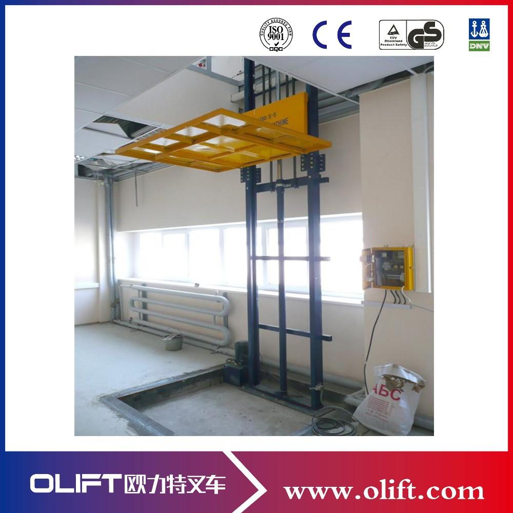 Hydraulic Vertical Lift : M vertical chain guided hydraulic cargo lift platform