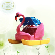 Funny and safty children hand power pedal boat,4 person paddle boat
