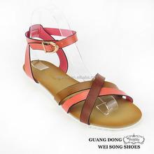 European style stylish flat insole PVC open toe ankle strap slingback pvc lady sandal
