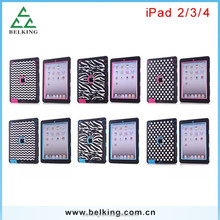 Fashion tablet case for ipad 4/3/2 Shock Proof Hybrid Rubber Hard Case