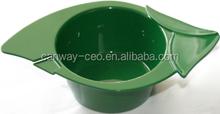 Luminary green salon hair coloring tint dye bowl,salon hair tint tool kit set,barber beauty set