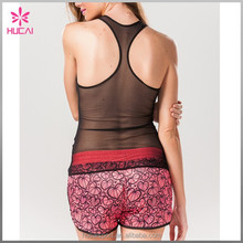 Fast Drying Breathable See Through Clothes Racer Back Tank Tops Wholesale