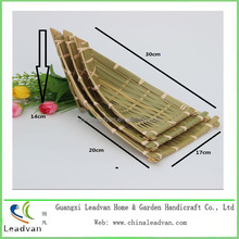 2015 Special decorative weaving bamboo boat shape baskets