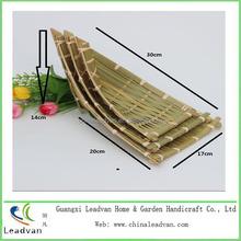 2015 decorativo especial de tecelagem de bambu forma de barco cestas