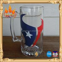 Draft beer glass mugs with handle