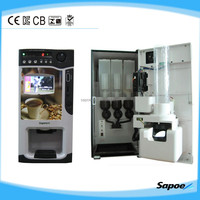 SC-8703B Manufacturer Coin-operated LCD Advertise Screen 3 Hot Flavor Coffee vending machine