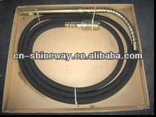 60mm,6m long,Best Price Concrete Vibratory Poker,with 96pcs steel wire, Mn40 spring lining. Flexible shaft 70# steel
