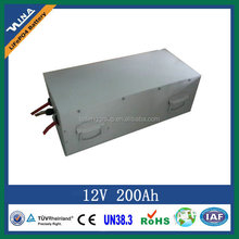 12V 200Ah lifepo4 battery pack for equipment power