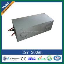 12V 200Ah lithium-ion battery pack for equipment power battery