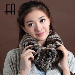 Factory direct wholesale price all match colorfull rex rabbit fur boa /rabbit fur muffler