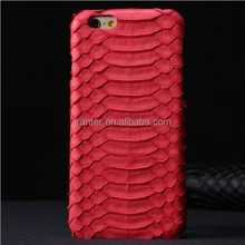 Real Snakeskin Mobile Phone Genuine Leather Case Cover for iPhone 6 Wholesale