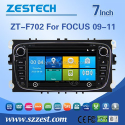 new & hot selling car dvd gps for Ford Focus with car dvd gps navigation bluetooth headunit