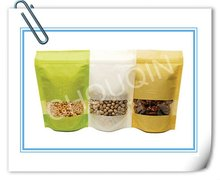 Rice paper stand up pouch with zip lock