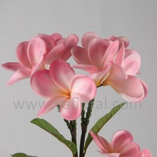 2015 hot sale artificial flower arrangement PU plumeria flower for wedding artificial frangipani flowers