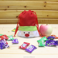 """6.5"""" fast delivery red green blue and cheapest wholesale santa sacks bag with drawstring"""