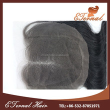 """High Quality Middle Part Virgin Mongolian body wave Hair Lace Closure(4""""x4"""") Accept Paypal"""