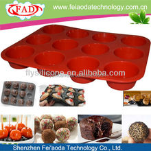 12 Cups Hygienic Eco-friendly Cheap Silicone Bakeware Manufacturer